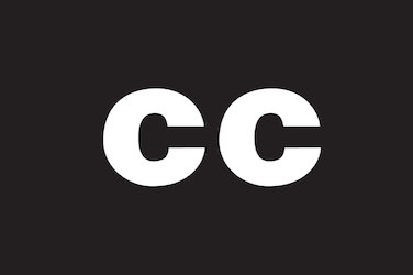 "Captioning symbol: Over a black background, the letters ""CC"" in white."