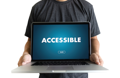 "The word ""accessible"" on a laptop screen"