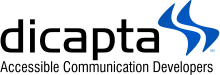 Logo Dicapta - Accesible communication developers